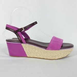 Cole Haan 8.5 Purple Suede Espadrille Wedge S20-13